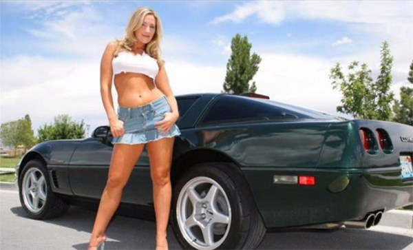 C4 Corvette ZR-1 and Sexy Girl - Corvettes and Sexy Women