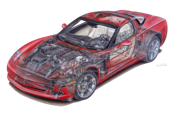 C6 Corvette Cutaway