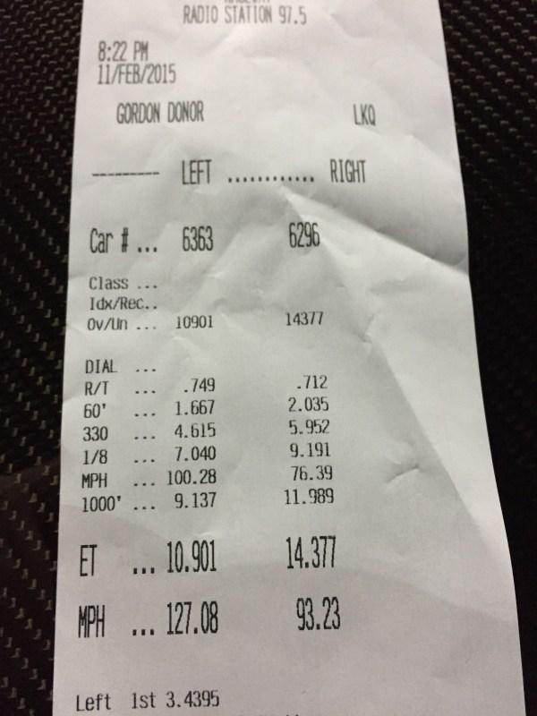 Fastest Corvette Z06 Quarter-Mile Time Slip Vincent Allegretta