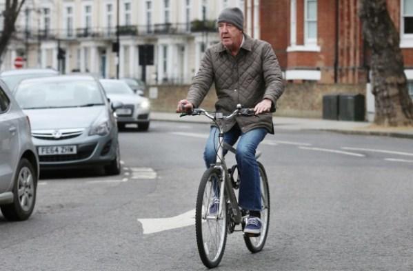 Jeremy Clarkson on bike