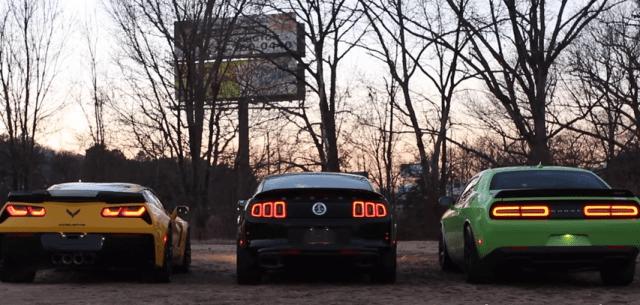 Corvette C7 Z06 vs Hellcat vs GT500