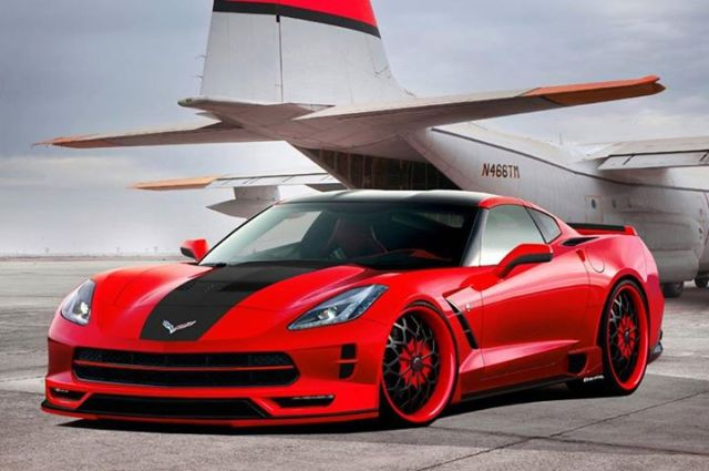 Wide body Corvette