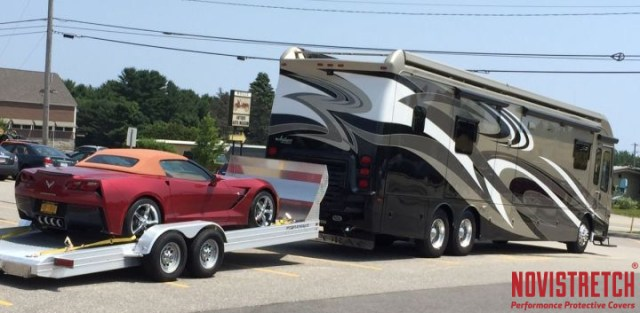 RV and C7 Corvette Stingray in Tow