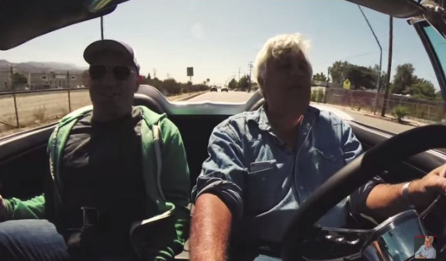 Leno and Rogan in car