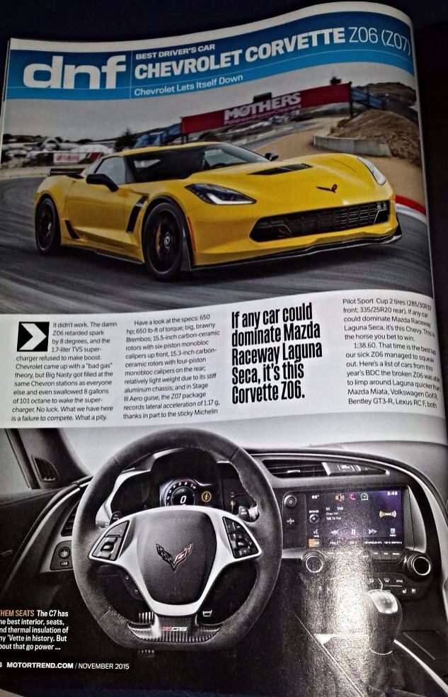 Corvette Best Driver's Car DNF Magazine Article (1)