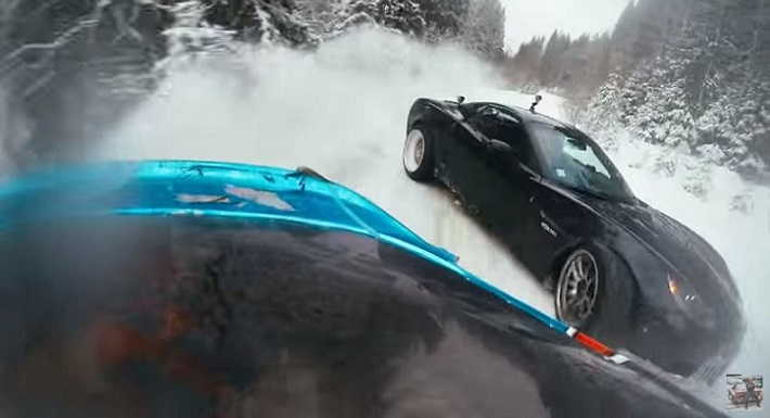 Russian Z06 Drifting Competion