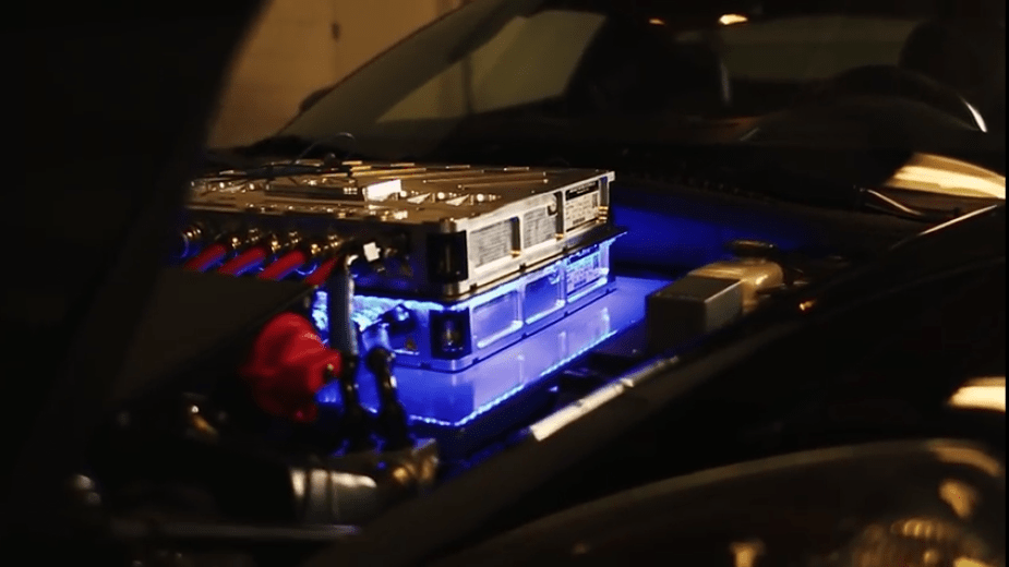 Electric powerplant for a Corvette.