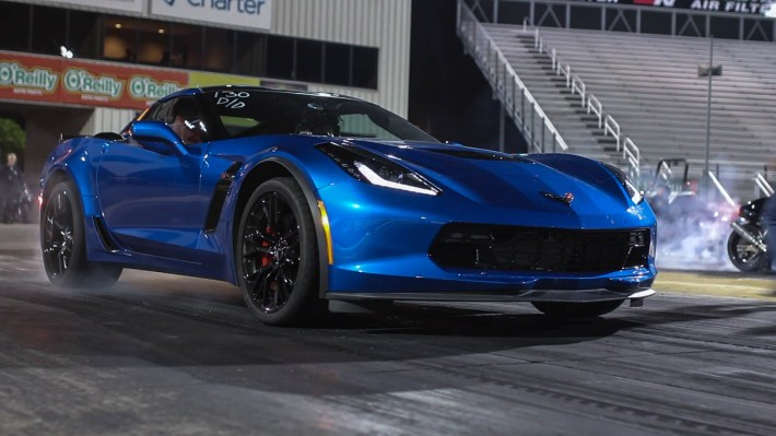 blue C7 burnout