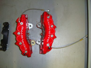 corvette rear brake calipers