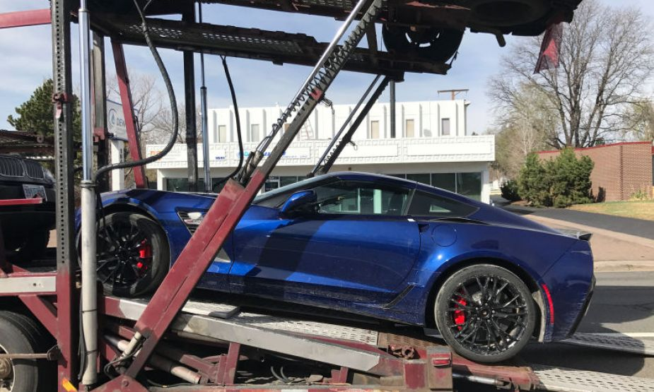 Salvage-Title Corvette Z06