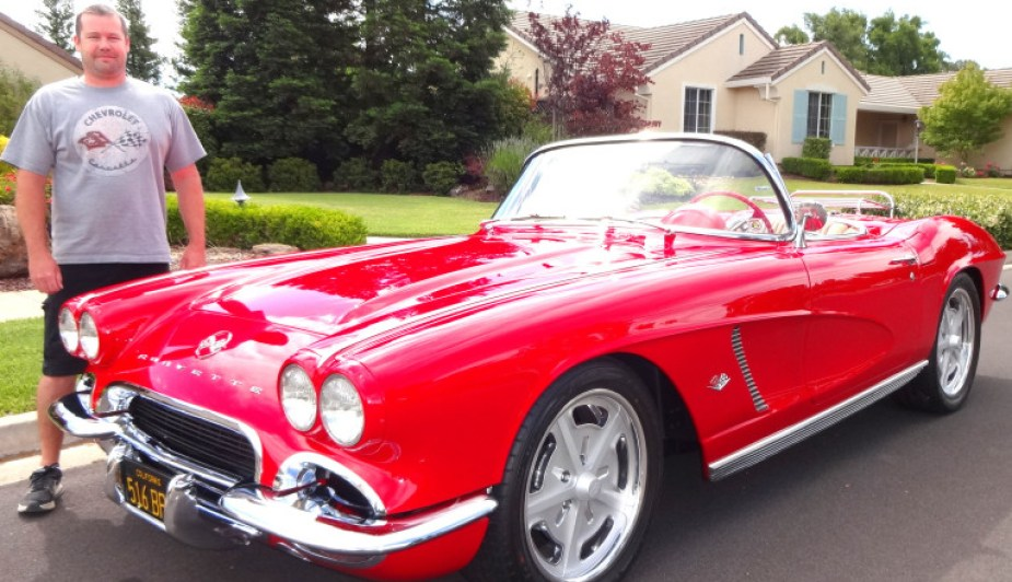 Joel Bernstein with 1962 Corvette