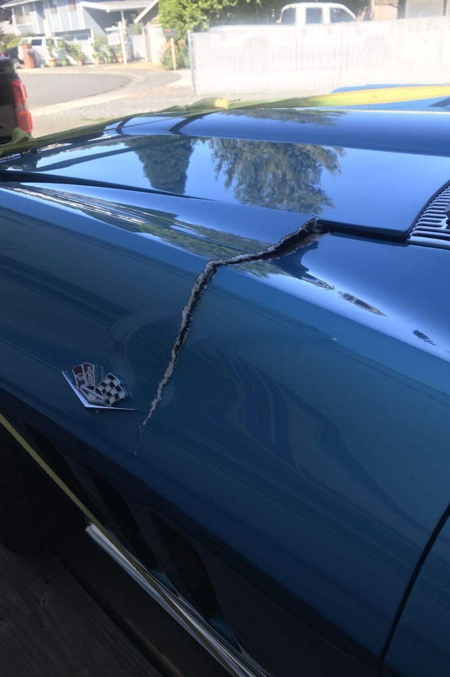 A friend crashed this owner's classic C2 Corvette.