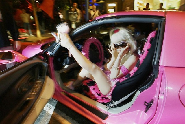Has famed Corvette driver Angelyne's true identity been revealed?