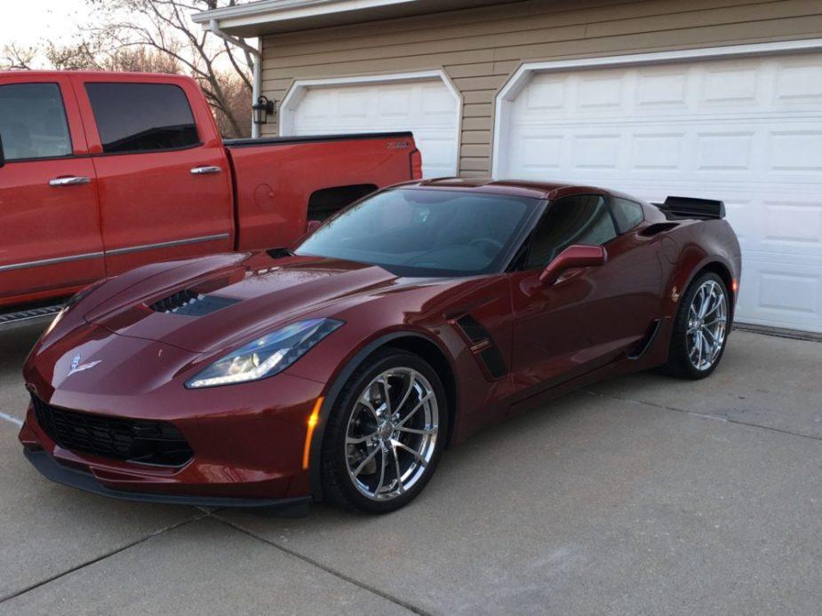 Totaled Corvette Forum Member Car