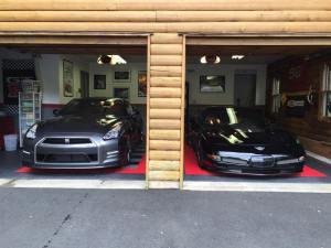 Nissan GT-R with C5 Corvette Z06 50th Anniversary Edition