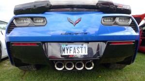 Corvettes at Carlisle Vanity Plates