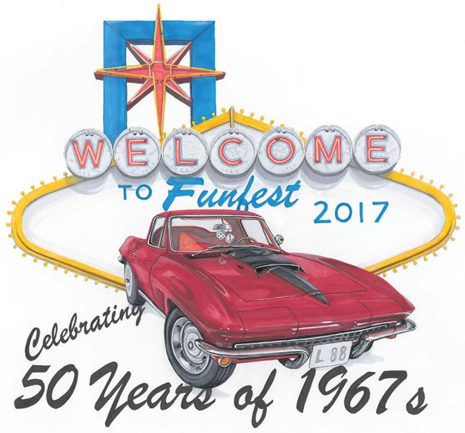 Corvette Funfest 2017 Artwork