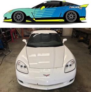 Matt Field's Drift Corvette