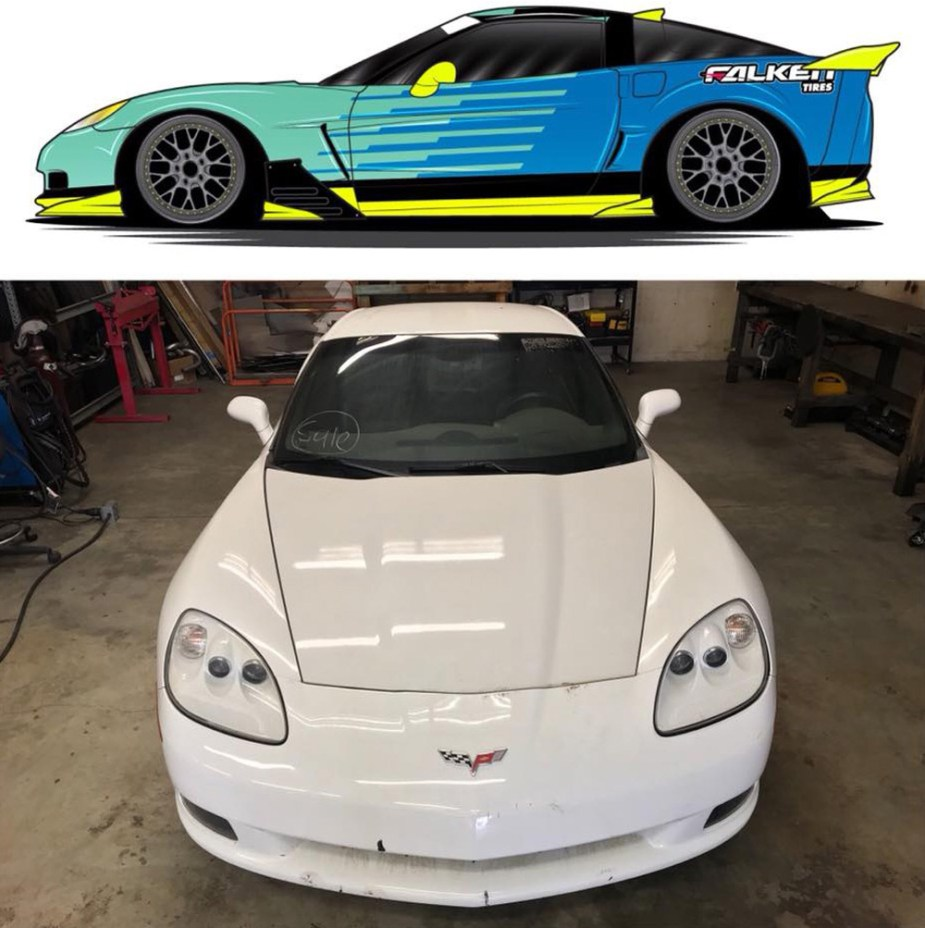 Matt Field's Drift Corvette
