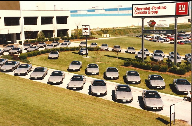 C4 Corvettes at Bowling Green