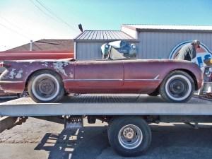 1954 Chevy Corvette Barn Find Sportsman Red