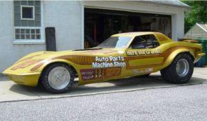 C3 Corvette based drag racer