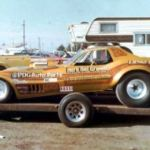 Altered wheelbase drag race Corvette