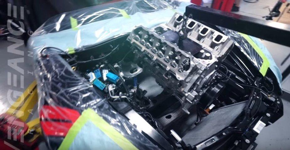 Evil GS Corvette Engine Goes In