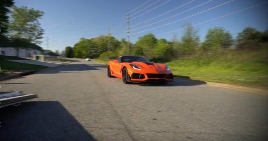 Corvette ZR1 on the Street