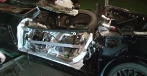 Wrecked Corvette Driver's Side