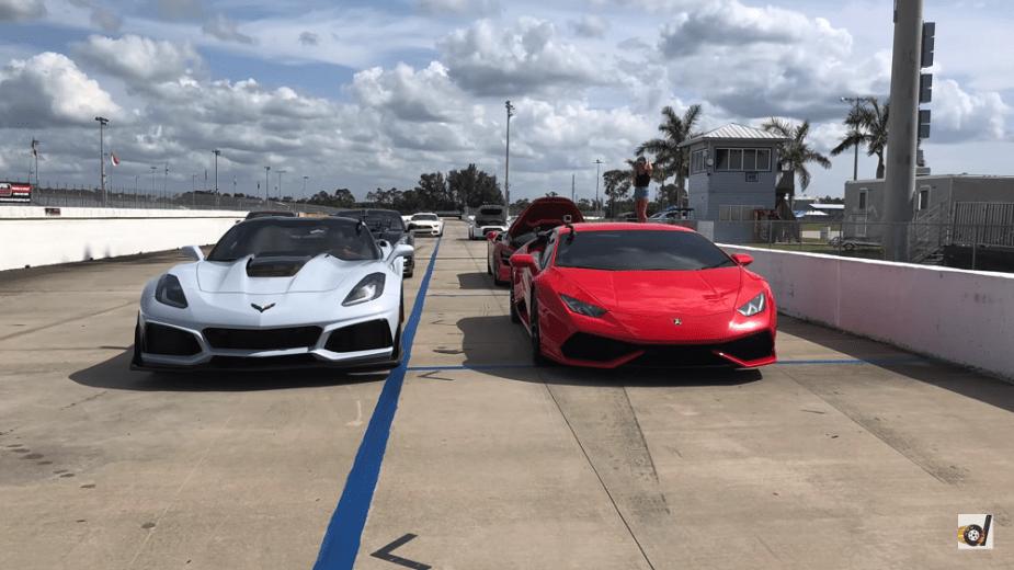C7 Corvette ZR1 vs Lamborghini Huracan