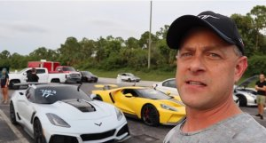 Brooks with the Corvette and GT