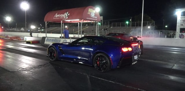 2017 Corvette Z06 vs. Camaro ZL1 Drag Race