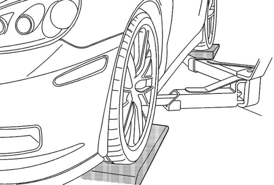 Corvette on the Hoist Diagram