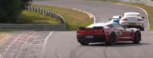 Corvette Z06 in Trouble on the Nurburgring