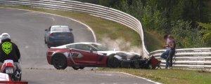 Corvette Z06 Crashed on the Nurburgring