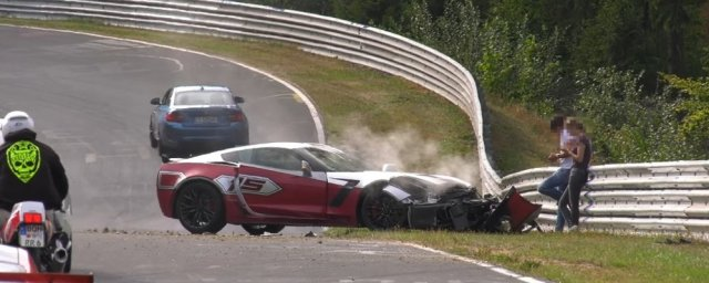 Corvette Z06 Crashed on the Nurburgring