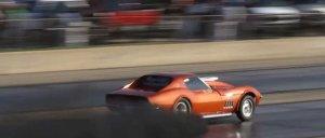 Cummins Corvette Tearing Down the Track