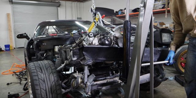 Rob Dahm Pulls LS6 from C5 Corvette Z06 for 13B Rotary