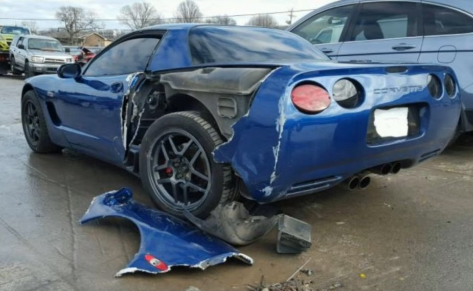 Cheap C5 Corvette Z06 Wrecked