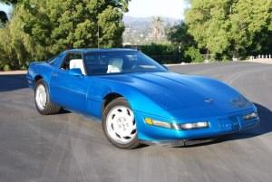 Quasar Blue White Interior C4 Corvette for Sale
