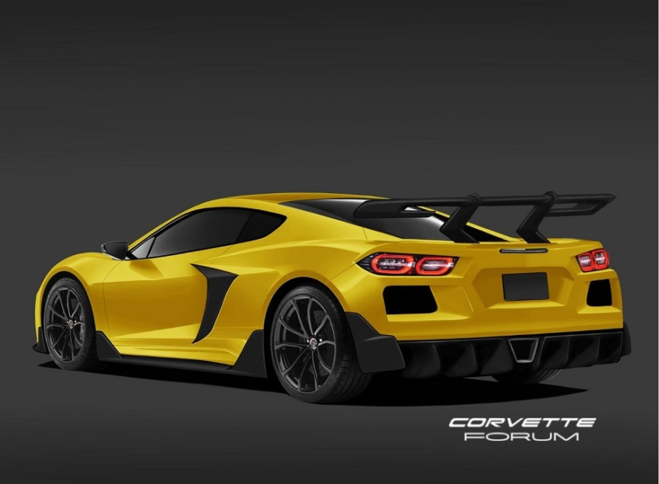 c8 chevrolet corvette rendered in high performance zr1 form