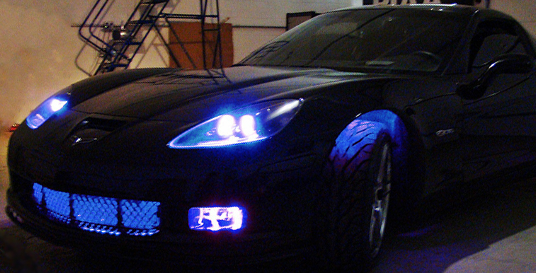 C6 Corvette 2005 2013 LED Front Grille Lighting Kit