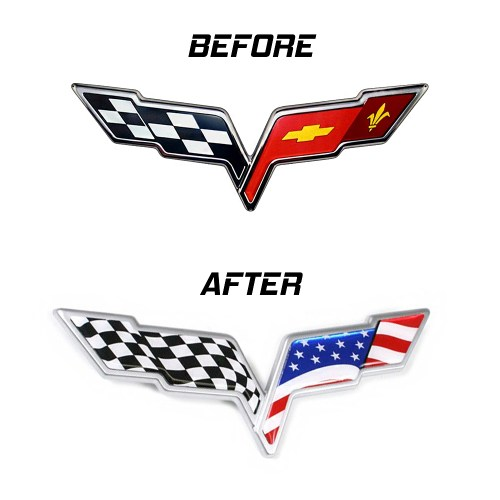 small resolution of c6 corvette 2005 2013 usa flag emblem overlay decal