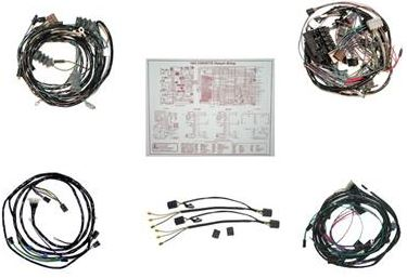 C2 Corvette 1964 Coupe Main Lamp Wire Harness Kit w