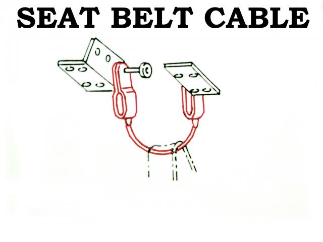 Corvette Cable Seat Belt Center Discontinued 65 67