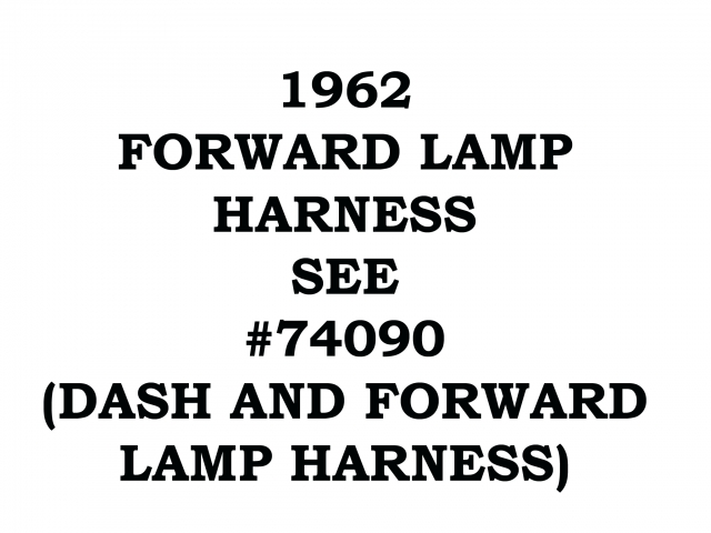 Corvette Harness Wire Forward Lamp 62 ( #62-FORWARD-LAMP