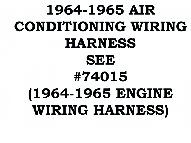 Corvette Harness Wire Air Conditioning 64 65 ( #64-65-AC