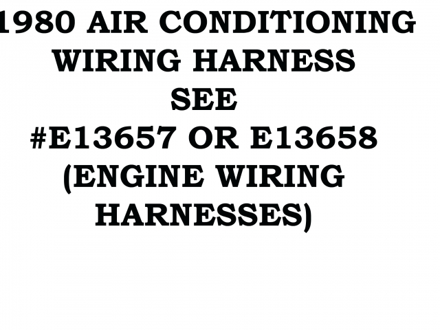 Corvette Harness Wire Air Conditioning 80 ( #80-AC-HARNESS