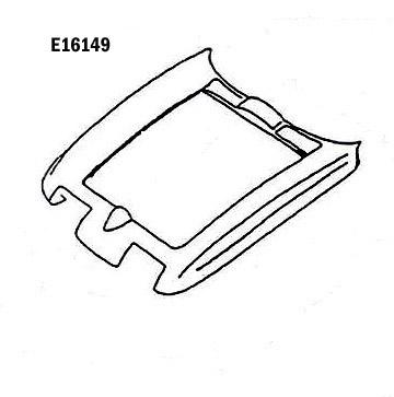 Corvette Hood Surround Press Molded White 65 66 ( #E16149